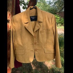 Vintage Burberry Wool/Cashmere Yellow Blazer